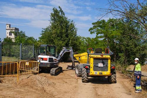 Comencen les obres del Camí de la Granja per adaptar-lo a les necessitats de la nova estació