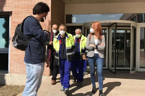 Jessica Albiach visita la planta d'Alstom que ampliarà instal·lacions i plantilla