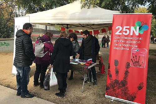 Igualtat ha instal·lat una parada informativa sobre el 25N