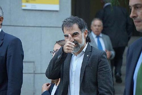 Regidors d'ERC-MES van acompanyar i donar suport a Jordi Cuixart davant l'Audiència Nacional