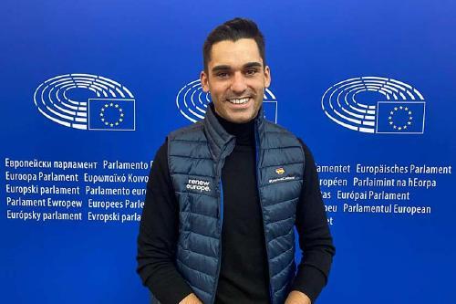 Kevin Romero participa a l'EYE 2021 al Parlament Europeu