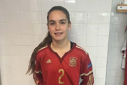 Ariadna Mingueza, amb la selecció espanyola sub-16