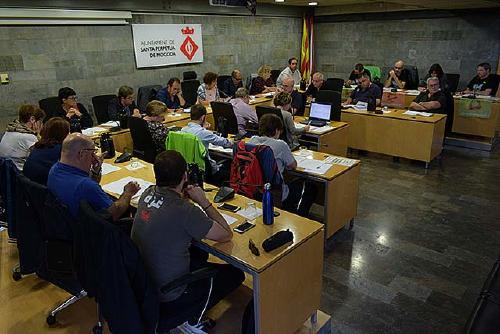 L'alcaldessa llegeix una declaració al Ple en defensa de l'autogovern de Catalunya
