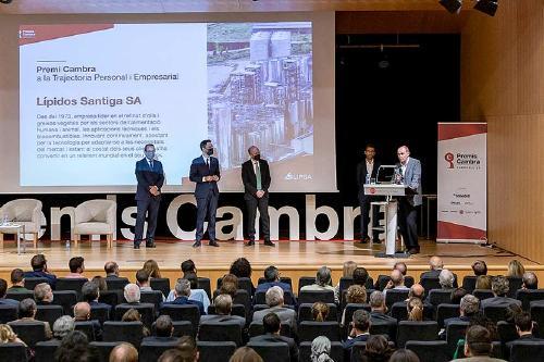 Lípidos Santiga obté el Premi Cambra 2021 al Mèrit Empresarial