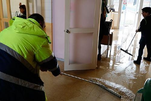 Els aiguats causen alguns incidents al municipi