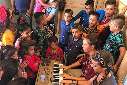 La Brigada d'Alkaria torna del Líban  després de dinamitzar activitats de lleure amb infants refugiats
