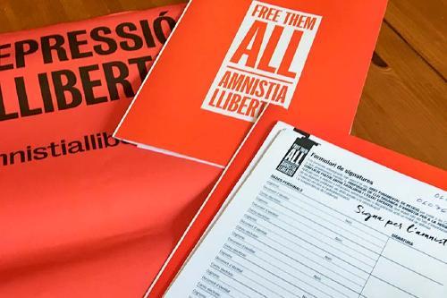 La plataforma Amnistia i Llibertat recollirà signatures durant l'octubre