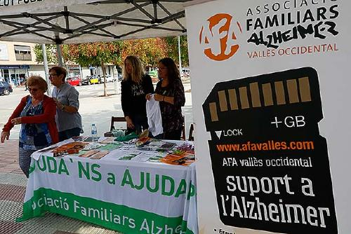 Afavo i la Regidoria de Salut instal·len aquest dijous una taula informativa sobre l'alzheimer
