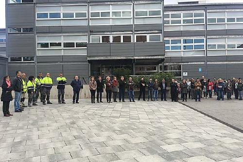 L'Ajuntament ha fet un minut de silenci per condemnar l'atemptat de Londres