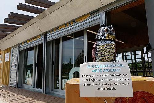 El taller 'Els tresors del mar' clou la temporada de l'aula del parc