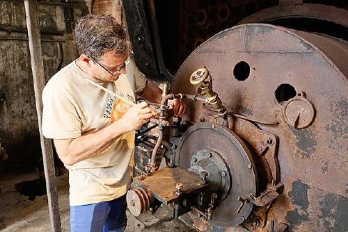 Restauració de la màquina de vapor i de la caldera