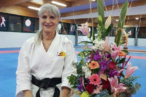 Mercedes Cañoto (Senshi Dojo) rep el vuitè DAN de karate de la Federació Catalana