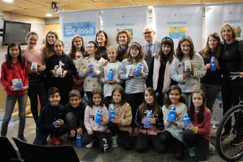 L'alumna Nagore Gañan, de l'Escola Santa Perpètua, guanya el Concurs de Dibuix de CASSA