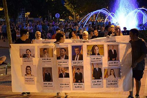 Unes 300 persones demanen la llibertat de Jordi Cuixart coincidint amb els onze mesos del seu empresonament