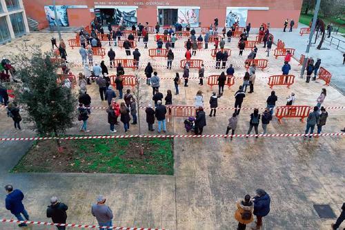 Unes 450 persones han participat aquest matí al cribatge massiu contra la Covid-19 al municipi