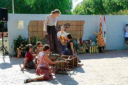 Santa Perpètua commemora la Diada al parc dels Països Catalans