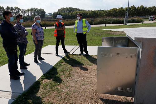 CASSA instal·la un dipòsit de clor per regar el parc Central