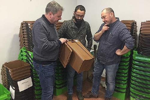 ERC visita Vacarisses per conèixer el model de recollida de residus porta a porta
