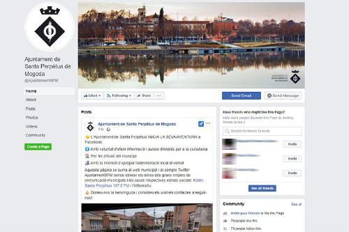 L'Ajuntament ja té pàgina a Facebook