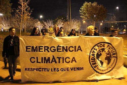Poca participació a la manifestació convocada pel col·lectiu Fridays for future