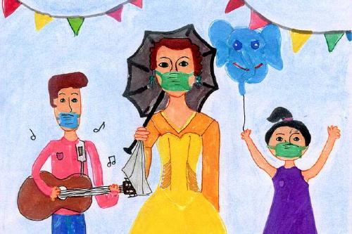 El cartell de Lucía i Anna Ramírez il·lustrarà la Festa Major 2020