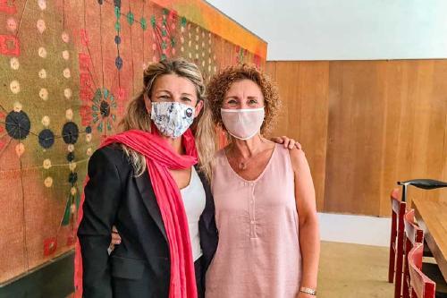 Isabel Garcia participa en un acte amb la vicepresidenta Yolanda Díaz contra l'ampliació de l'aeroport del Prat