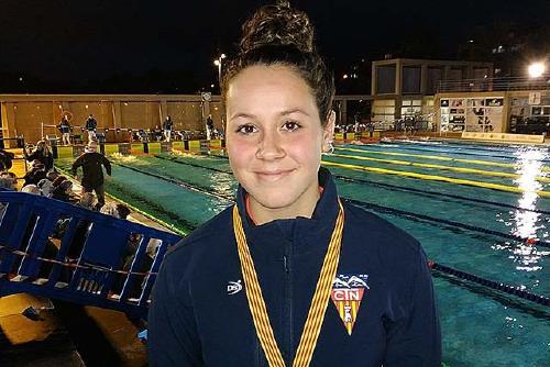 Nous èxits de la nedadora perpetuenca Júlia Luis (CN Terrassa) en el Campionat de Catalunya