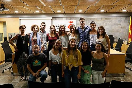 L'Ajuntament rep els brigadistes voluntaris d'Alkaria que van anar al Líban aquest estiu