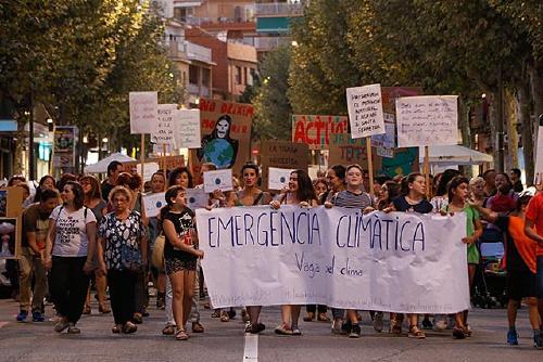 Vaga pel Clima aplega unes dues-centes persones a la manifestació pel clima a Santa Perpètua