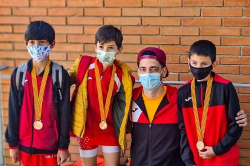 Tres atletes locals, medalla de bronze en el Campionat de Catalunya sub-12