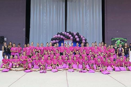 Una vuitantena de gimnastes participen al quart Festival del Club Rítmica Santa Perpètua