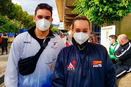 Els germans Molina han participat aquest cap de setmana en el Campionat d'Espanya de Karate