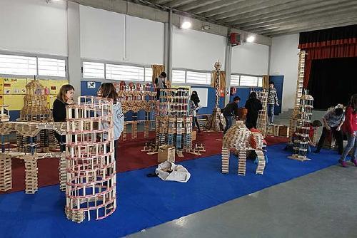 Taller de construcció KAPLA al cicle superior de l'Escola La Florida