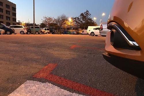 Noves places de zona vermella a l'aparcament del carrer de Joaquim Malats
