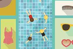 Temporada de piscina d'estiu