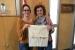 L'AMPA Els Aigüerols lliura bosses reivindicatives als portaveus dels grups i a l'alcaldessa de Santa Perpètua