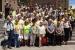 Un centenar d'avis es concentren els dimarts a la plaça de la Vila per reclamar 'la llibertat dels presos polítics'